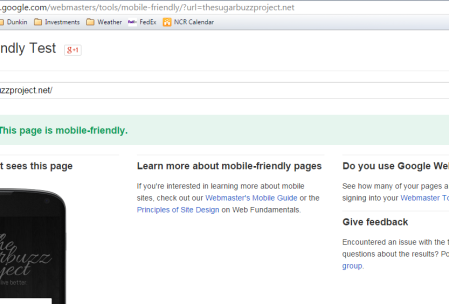 Google mobile-friendly site check update tool